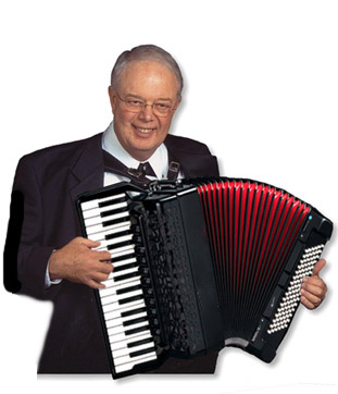Photo of Dale Wise with accordion